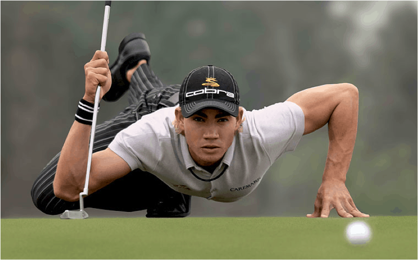 "Camillo Villegas is known as ""Spideman"" for the way he contorts his body while reading his putts, but did you know this tiny guy who stands only 5' 9"" tall and weighs just 160 pounds also BOMBS his tee shots nearly 300 yards on average? Keep reading to discover his ""secret"" and how you can use the same simple idea to add more distance to every club in your golf bag."